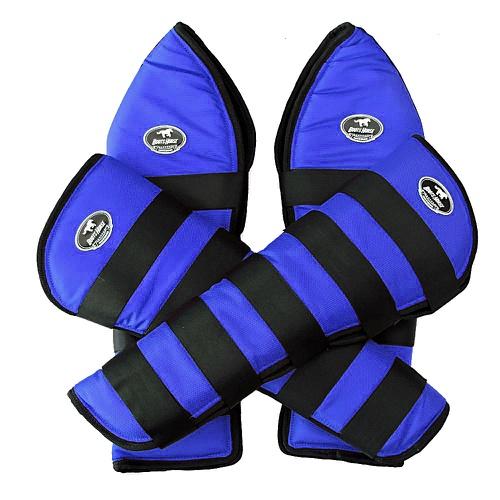 Protetor de Viagem Azul Royal Velcro Preto - Boots... - Cavalaria Shop