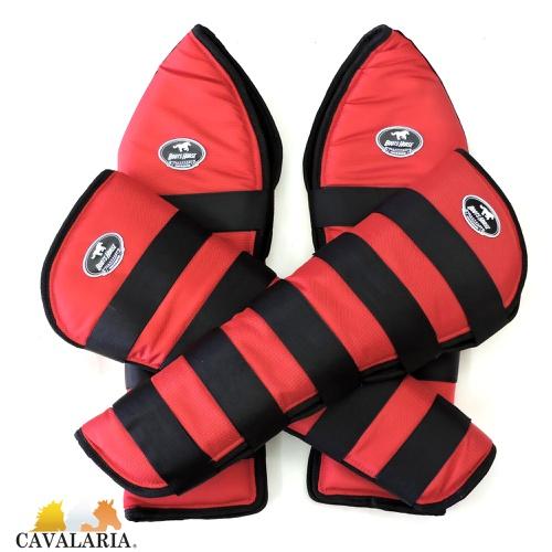 Protetor de Viagem Vermelho Velcro Preto - Boots H... - Cavalaria Shop