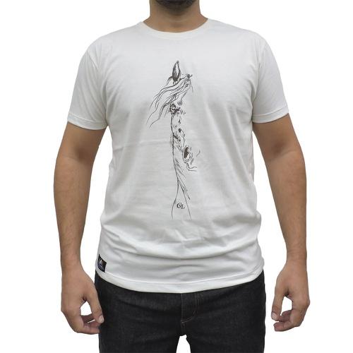 Camiseta CAVALARIA Bege com detalhes Marrom - Cavalaria Shop