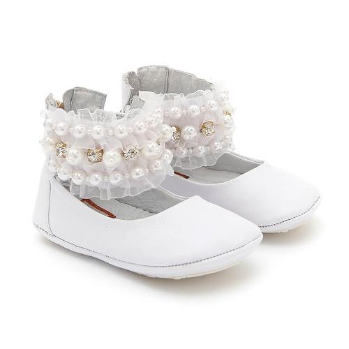 Sapatinho de tornozeleiras Feminino Branco Baby Ga... - GATS