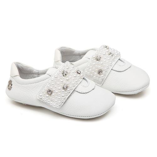 Tênis Baby Pérolas Branco Gats - GATS