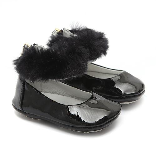 Sapato Tornozeleiras Pêlos Preto Gats - GATS