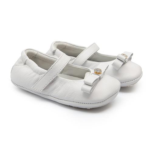 Sapatinho de Bebê Feminino Branco Gats - GATS