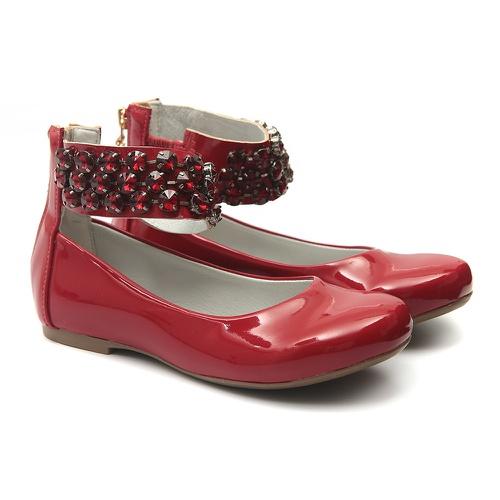 Sapato de Tornozeleiras Infantil Verniz Vermelho G... - GATS