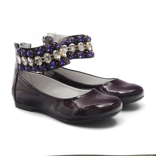 Sapato de Tornozeleiras Infantil Verniz Roxo Gats - GATS