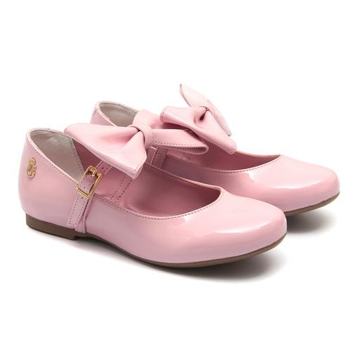 Sapato Boneca Laço Rosa Infantil Gats - GATS