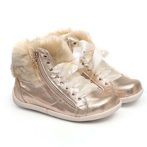 Tênis Sneaker Dourado Infantil Gats - GATS