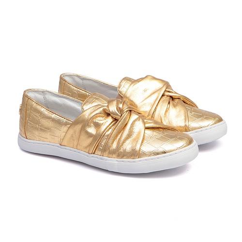 Slip On Croco Dourado Infantil Gats - GATS