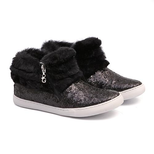 Tênis Sneaker Gliter Preto Feminino Infantil Gats - GATS