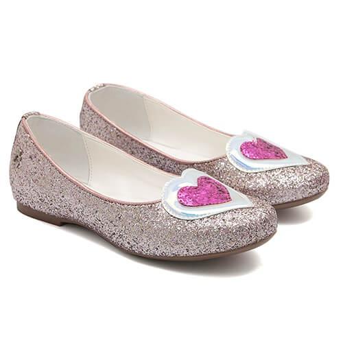 Sapatilha Glitter Coração Rosa - GATS