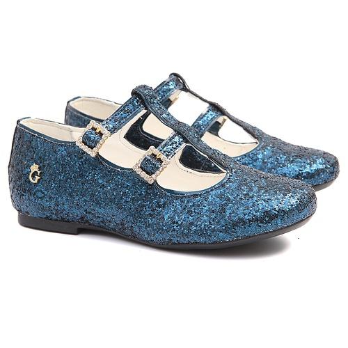 Sapatilha de Glitter Azul Infantil Gats - GATS