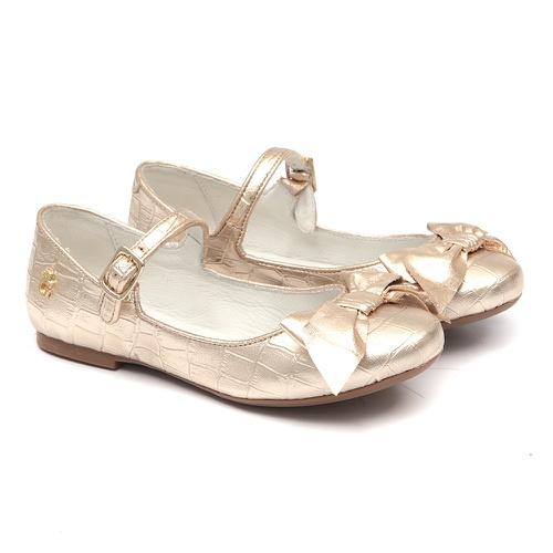 Sapato de Laço Croco Ouro Gats - GATS