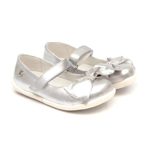 Sapato Metalizado Prata Laço - GATS