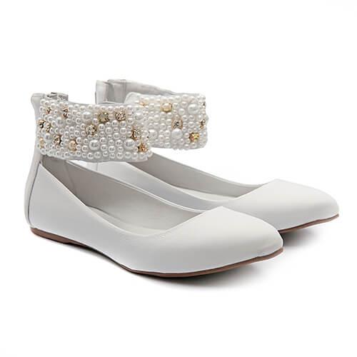Sapato de Tornozeleiras Baby Branco - GATS
