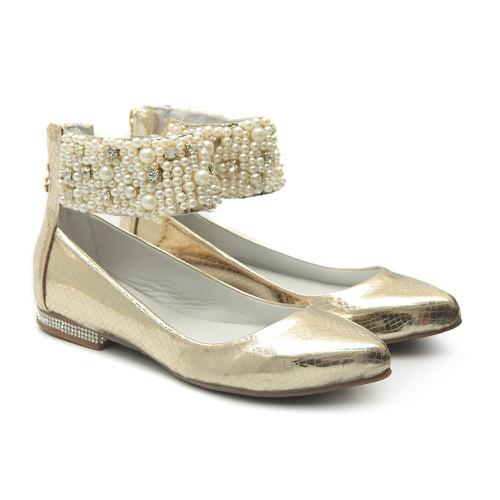 Sapato de Tornozeleiras Fira Champagne - GATS
