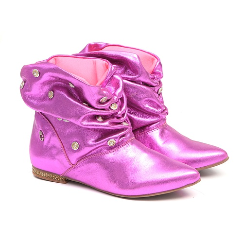 Bota Pink de Bico Fino Infantil Gats - GATS
