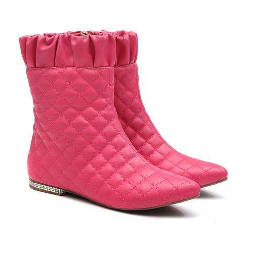Bota Matelassê Pink Infantil Feminino Gats - GATS