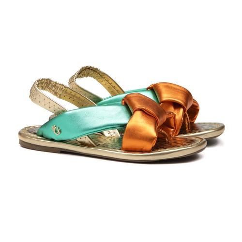 Sandália de Laço Laranja Infantil Gats - GATS