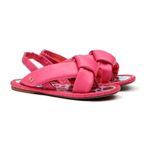 Sandália de Laço Rosa Infantil Gats - GATS