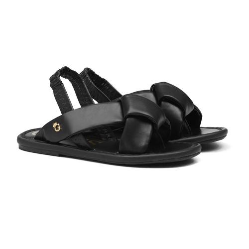 Sandália de Laço Preto Infantil Gats - GATS