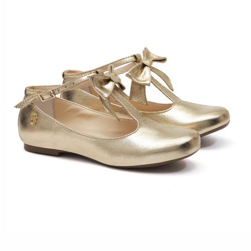 Sapato Dourado Boneca Infantil Gats - GATS