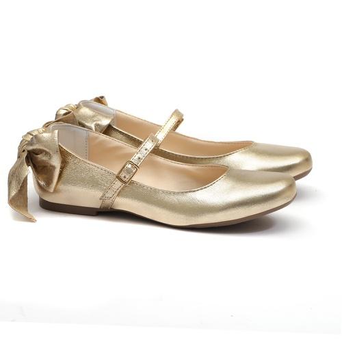 Sapato Dourado Metalizado Infantil Gats - GATS