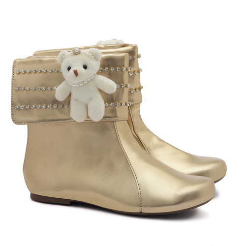 Bota Ursinho Dourada Infantil Gats - GATS