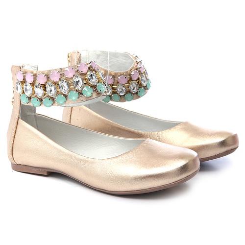 Sapato de Tornozeleiras Dourado Infantil Gats - GATS