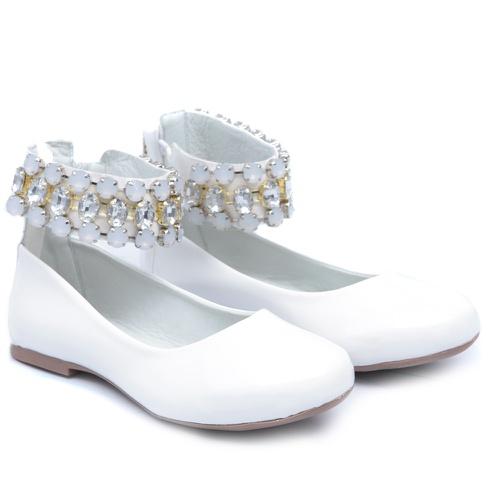Sapato de Tornozeleiras Branco Infantil Gats - GATS