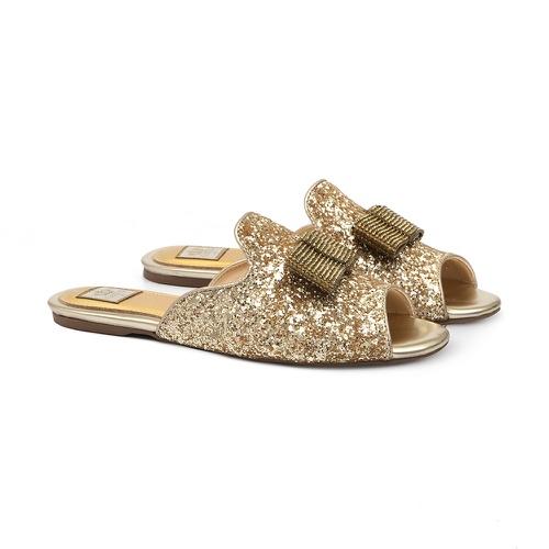 Slide Glitter Dourado - GATS