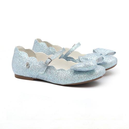 Sapatilha Laço Nuvem Glitter Azul - GATS