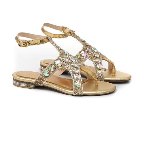Sandália Estrela Glitter Dourado - GATS