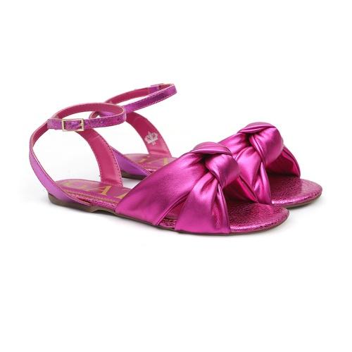 Sandália Rasteira Laço Pink - GATS
