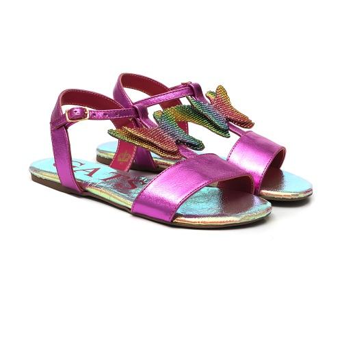 Sandália rainbow butterfly pink - GATS