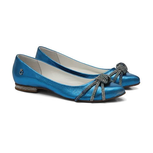 Sapatilha Bico Fino Glam Azul - GATS