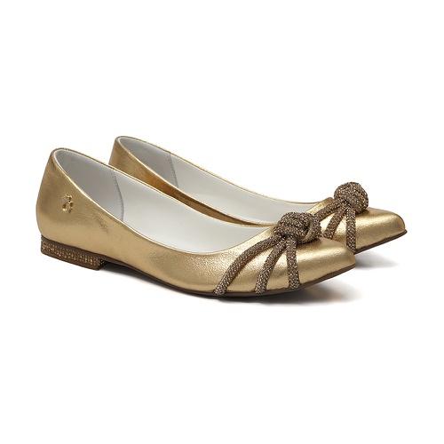 Sapatilha Bico Fino Glam Dourado - GATS
