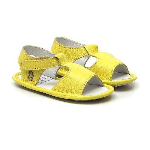 Sandália Papete Baby Masculino Amarelo - GATS
