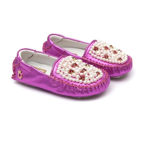 Mocassim Bebê Bordado Pink - GATS