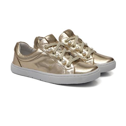Tênis Sneaker Pérolas Dourado - GATS