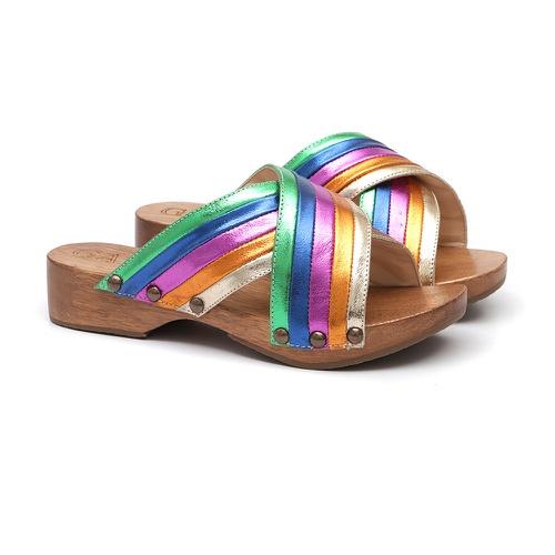 Tamanco Madeira Arco-íris - GATS