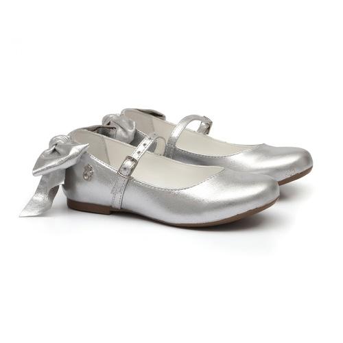 Sapatilha Laço Metalizado Prata - GATS