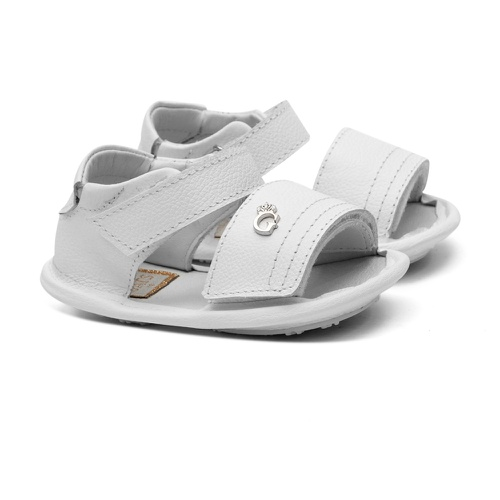 Sandália de Velcro Branco Gats - GATS