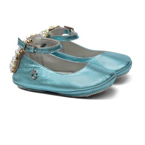 Sapatilha Borboleta Azul Cristal Bebê Gats - GATS