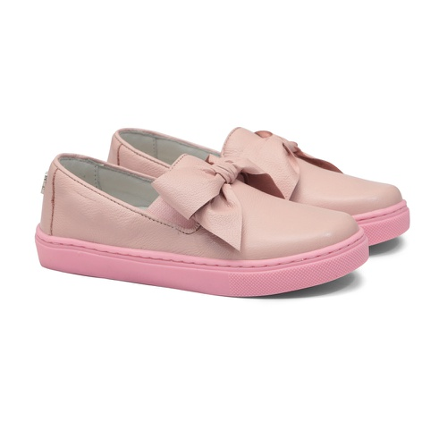 Tênis Slip On Laço Rosa Infantil Gats - GATS