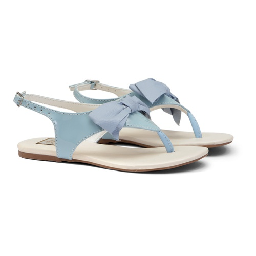 Sandália de Laço Verniz Azul - GATS