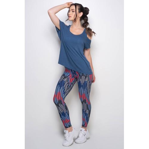 Blusa Ombro Azul - 35013 - Korefit