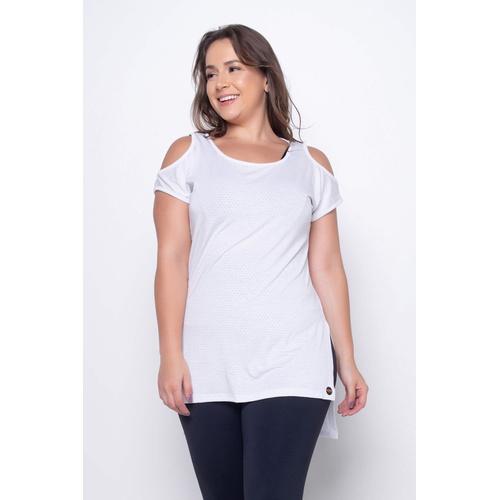 Blusa Ombro Mullet Branca - 41460 - Korefit