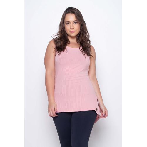 Camiseta Canelada Mullet Rosa - 41463 - Korefit