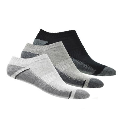 KIT 3 Pares de Meia Masculina Casual Confort - Preto/Branco/Cinza