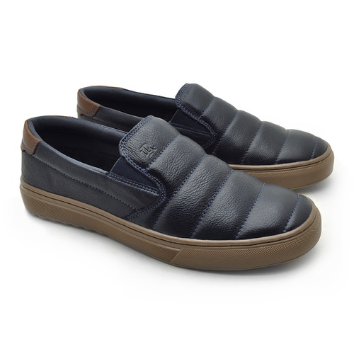 Slip On Yate Masculino Connect em Couro - Royal